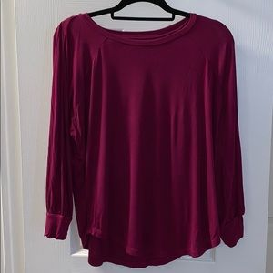 Loft cranberry tshirt. Only worn a couple times
